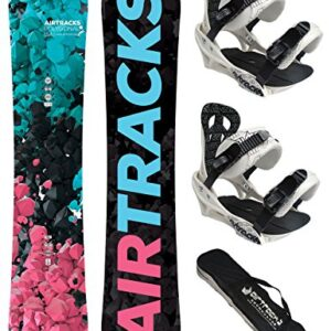 AIRTRACKS-LADY-SNOWBOARD-SET-BOARD-POLYGONAL-SOFTBINDING-SAVAGE-W-SB-BAG-0