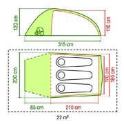 Coleman-Caucasus-2-Tunnel-Tent-Green-Two-Person-0-2
