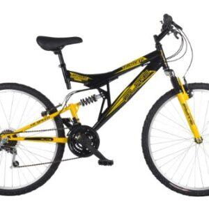 Flite-Mens-Taser-II-Dual-Suspension-Mountain-Bike-Wheel-26-inch-Frame-18-inch-BlackYellow-0