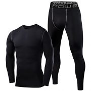 Mens-Boys-PowerLayer-Gym-Compression-Performance-Thermal-Base-Layer-Set-Top-Tights-0-0
