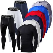 Mens-Boys-PowerLayer-Gym-Compression-Performance-Thermal-Base-Layer-Set-Top-Tights-0