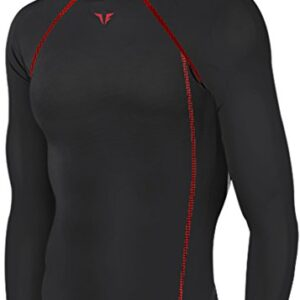 New-199-Black-Skin-Tights-Compression-Base-Layer-Running-Long-Sleeve-Top-Mens-0