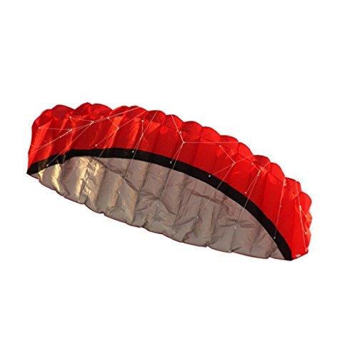 25m-Dual-Line-Control-Parafoil-Foil-Parachute-Outdoor-Park-Beach-Kite-Red-0