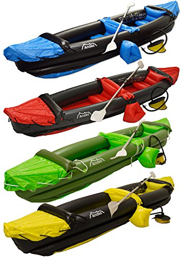 Andes-InflatableBlow-Up-Two-Person-KayakCanoe-With-Paddle-Water-Sports-0