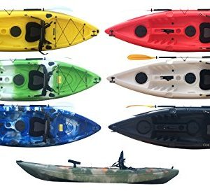 Bluefin-Single-Sit-On-Top-Fishing-Kayak-With-Rod-Holders-Storage-Hatches-Padded-Seat-Paddle-0