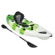 Bluewave-Single-Sit-On-Top-Fishing-Kayak-With-5-Rod-Holders-2-Storage-Hatches-Padded-Seat-Paddle-0-4