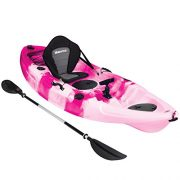 Bluewave-Single-Sit-On-Top-Fishing-Kayak-With-5-Rod-Holders-2-Storage-Hatches-Padded-Seat-Paddle-0-5