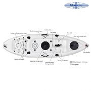 Bluewave-Single-Sit-On-Top-Fishing-Kayak-With-5-Rod-Holders-2-Storage-Hatches-Padded-Seat-Paddle-0-7