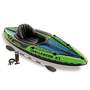 Intex-K1-Challenger-Kayak-1-man-Inflatable-Canoe-oars-0