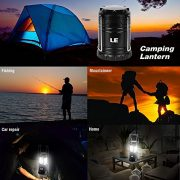 LE-Pack-of-2-Units-Portable-Collapsible-LED-Lantern-30-LEDs-Battery-Powered-Water-Resistant-Home-Garden-and-Camping-Lanterns-for-Hiking-Camping-Emergencies-LED-Camping-Lantern-0-4