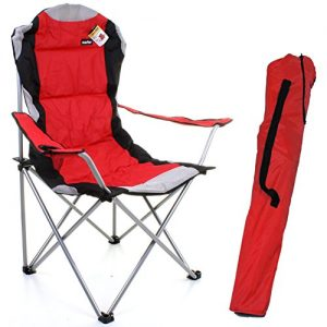 Marko-Outdoor-Red-Grey-Heavy-Duty-Deluxe-Padded-Folding-steel-Camping-Chair-Festival-Directors-Fishing-0