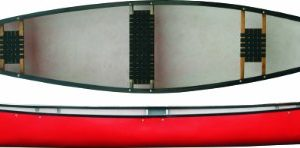 Riber-Open-Canadian-Canoe-3-Seater-version-425kg-Weight-Capacity-3-Core-Polyethylene-Hull-Available-in-Red-Green-0