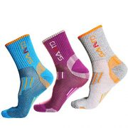 3-Pairs-of-Breathable-Hiking-Coolmax-Crew-Socks-Outdoor-Trekking-Sock-with-Wicking-Ventilating-Mesh-Cushioned-Padding-Design-Boot-Sock-Fit-for-Trekker-Walking-Camping-Climbing-Athletic-Running-Sports--0