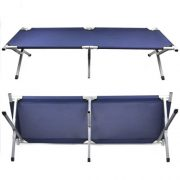 Beyondfashion-Safe-and-Strong-Aluminium-Frame-Single-Folding-Camp-Bed-Travel-Outdoor-Bed-Green-0-2