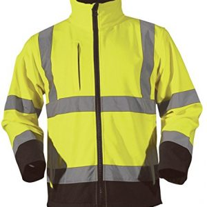 Blackrock-Soft-Shell-Two-Tone-Jacket-Hi-Vis-Yellow-Navy-Coat-High-Viz-0