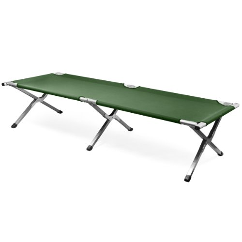 LYNCOL-Single-Folding-Aluminum-Camping-Bed-Camp-Travel-Outdoor-Bed-Green-0