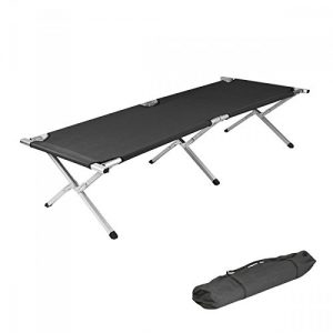 NEW-Folding-Camping-Bed-Ourdoor-Travel-Camp-Light-Aluminium-Steel-Legs-FREE-CARRY-BAG-0