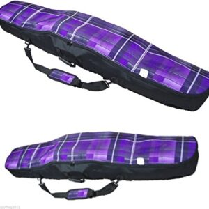 SNOWBOARD-BAG-RUCKSACK-BACKPACK-CARRY-CASE-LUGGAGE-155cm-61in-and-165cm-65in-Roomy-and-comfortable-Tartan-Purple-0