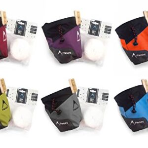 Psychi-Premium-Chalk-Bag-Starter-Pack-for-Bouldering-Rock-Climbing-with-Waist-Belt-Chalk-Ball-0
