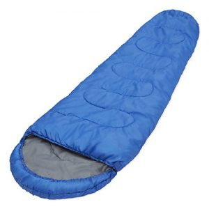 300GSM-Professional-Mummy-Sleeping-Bag-for-Camping-Hiking-and-Outdoors-3-4-Season-Drawstring-Hood-and-Collar-0