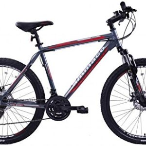 AMMACO-ALPINE-SPORT-21-SPEED-MENS-ALLOY-MOUNTAIN-BIKE-WITH-DISC-BRAKES-26-WHEEL-EXTRA-LARGE-23-FRAME-FOR-TALL-MEN-GREY-0