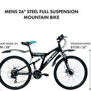 Boss-Stealth-Mens-Dual-suspension-bike-Black-26-Inch-0-8