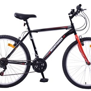 CHEAPEST-MENS-MOUNTAINEER-26-WHEEL-MOUNTAIN-BIKE-21-SPEED-BLACKRED-0