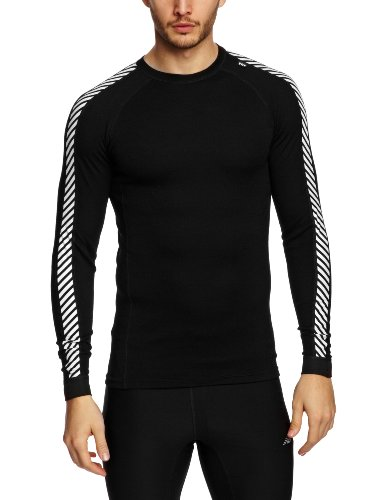 Helly-Hansen-Mens-Lifa-Warm-Ice-Crew-Base-Layer-Top-Black-Large-0