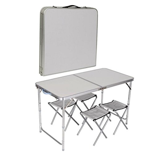 4 Chair Folding Table Set Outdoor Picnic Camping Garden