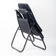 BTM-Set-of-2-Black-Folding-Garden-Patio-Deck-Pool-Recliner-Sun-loungers-Reclining-Chair-Furniture-Camping-Chair-Textoline-Royale-ChairBlack-0-1