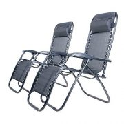 BTM-Set-of-2-Black-Folding-Garden-Patio-Deck-Pool-Recliner-Sun-loungers-Reclining-Chair-Furniture-Camping-Chair-Textoline-Royale-ChairBlack-0-7