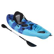 Bluewave-Single-Sit-On-Top-Fishing-Kayak-With-5-Rod-Holders-2-Storage-Hatches-Padded-Seat-Paddle-0-1
