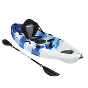 Bluewave-Single-Sit-On-Top-Fishing-Kayak-With-5-Rod-Holders-2-Storage-Hatches-Padded-Seat-Paddle-0-2