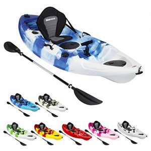 Bluewave-Single-Sit-On-Top-Fishing-Kayak-With-5-Rod-Holders-2-Storage-Hatches-Padded-Seat-Paddle-0