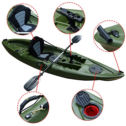 Fds 10ft bluefin sit on top sea fishing kayak canoe for Best fishing kayak accessories