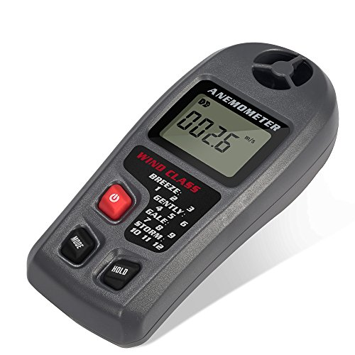 GRDE-Digital-Anemometer-LCD-Wind-Speed-Meter-Air-Flow-Temperature-Measurement-with-Backlight-for-Windsurfing-Kite-Flying-Sailing-Surfing-Fishing-Industrial-and-Family-Use-Speed-Reading-Modes-MAX-and-A-0