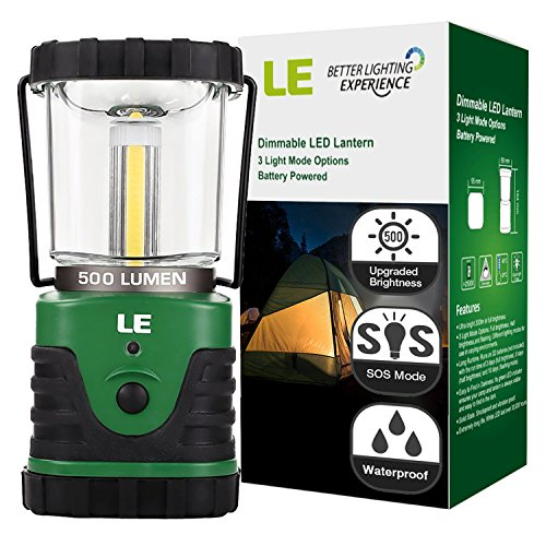 LE-500lm-LED-Lantern-9W-3-Lighting-Modes-Battery-Powered-Water-Resistant-Home-Garden-and-Camping-Lanterns-for-Hiking-Camping-Emergencies-Hurricanes-Outages-LED-Camping-Lantern-0