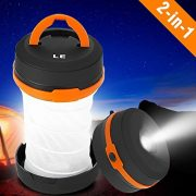 LE-Collapsible-LED-Camping-Lantern-Flashlight-Dual-Purpose-3-Modes-Battery-Powered-Water-Resistant-Home-Garden-and-Camping-Lanterns-for-Hiking-Emergencies-Outages-0-0