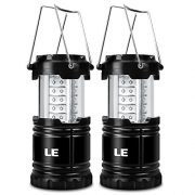 LE-Pack-of-2-Units-Portable-Collapsible-LED-Lantern-30-LEDs-Battery-Powered-Water-Resistant-Home-Garden-and-Camping-Lanterns-for-Hiking-Camping-Emergencies-LED-Camping-Lantern-0