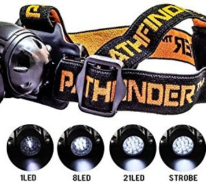 PATHFINDER-21-LED-Headlamp-Headlight-Water-resistant-4-Modes-Of-Operation-Head-Safety-Lamp-Flash-Light-Torch-For-Cycling-Climbing-Mountain-Biking-Camping-Night-Reading-Adjustable-Beam-Angle-100000-Hou-0