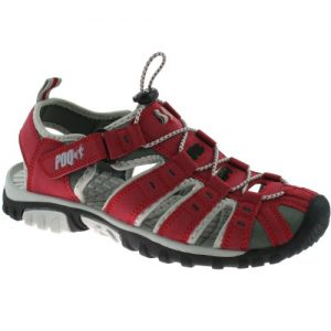 LADIES-RED-VELCRO-SUMMER-SPORTS-BEACH-SANDALS-0