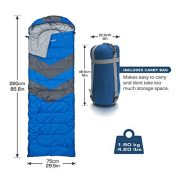 Abco-Tech-Sleeping-Bag--Envelope-Lightweight-Portable-Waterproof-Comfort-With-Compression-Sack-Great-For-4-Season-Traveling-Camping-Hiking-Outdoor-Activities-SINGLE-0-2