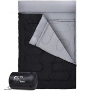 Active-Era-Double-Sleeping-Bag-Extra-Large-Queen-Size-Converts-into-2-Singles-3-Season-for-Camping-Hiking-Outdoors-0