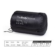Active-Era-Double-Sleeping-Bag-Extra-Large-Queen-Size-Converts-into-2-Singles-3-Season-for-Camping-Hiking-Outdoors-0-6