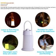 Convertible-LED-Reading-Light-Lamp-and-Camping-Lantern-Bedside-Night-Light-with-Eye-caring-Soft-Warm-White-Light-Flexible-Neck-Adjustable-Brightness-Rechargeable-Great-for-Tent-Light-0-4
