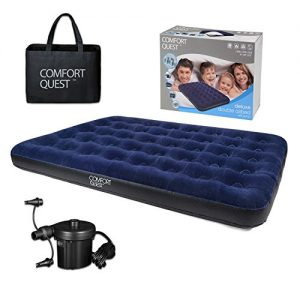 Double-Airbed-Inflatable-Camping-Blow-Up-Mattress-Air-Bed-And-Electric-Pump-0