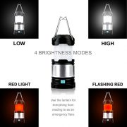 Expower-Ultimate-Rechargeable-LED-Lantern-and-4400mAh-Power-Bank-185-Lumens-4-Brightness-Modes-Compact-and-Collapsible-Water-Resistant-IPX5-Great-Light-for-Camping-Hiking-Loft-Shed-Power-Outages-0-0