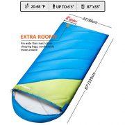 Fundango-Sleeping-Bag-Lightweight-XL-for-CampingBackpackingTravel-with-Compression-Sack-Warm-Sleeping-Bag-Portable-Comfort-3-4-Season-0-0