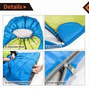 Fundango-Sleeping-Bag-Lightweight-XL-for-CampingBackpackingTravel-with-Compression-Sack-Warm-Sleeping-Bag-Portable-Comfort-3-4-Season-0-1