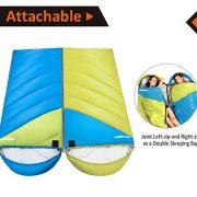 Fundango-Sleeping-Bag-Lightweight-XL-for-CampingBackpackingTravel-with-Compression-Sack-Warm-Sleeping-Bag-Portable-Comfort-3-4-Season-0-3